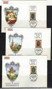 ÖSTERREICH - FDC Mi-Nr. 1522 - 1530 (Einzelmarken Aus Block Nr. 4) Wappen Der Bundesländer (2) - FDC