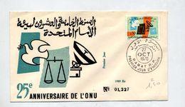 Lettre Fdc 1970 Onu - Marruecos (1956-...)