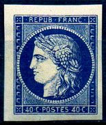 RARE Et SUPERBE  ESSAI BLEU FONCE Du N°5 De SPIRO NEUF Avec GOMME** LUXE 1er Choix - 1849-1850 Ceres