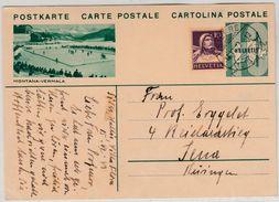 Schweiz - 10 Rp Bild-GA-Karte (Eishockey) Sierre - Jena 1933 - Hockey (Ice)