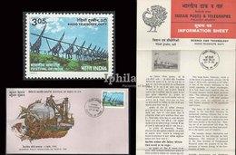 Radio Telescope 1982 FDC & Folder Indien  Science Astronomy Astronomie Der Weltraum Sonne Soleil Solar System Space - Astronomy