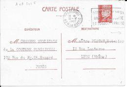 SENE 75  -  PARIS VIII -  FLAMME N° A 08 502 F  - NOTRE EMPIRE / VEUT UNE MARINE FORTE / ET TOUJOURS PRETE - 1942 - Storia Postale