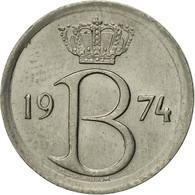 Belgique, 25 Centimes, 1974, Brussels, TTB+, Copper-nickel, KM:153.1 - 02. 25 Centimes