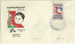 SYFD002 Syria U.A.R. 1959 Illustrated FDC - Children's Day - Syria