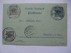 GERMANY - 1900 Postkarte - Mit Sonderstempel - X11 DEUTSCHER PHILATELISTENTAG Frankfurt - + Domitz Stempel - Allemagne