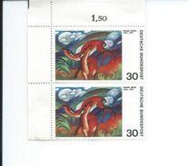 ZAlln647x2 - Allemagne RFA 1974 - YT N° 647 : 2 Timbres Se Tenant Neufs** - MNH - ART : Peinture : Franz MARC - Arte