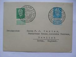 GERMANY - 1931 Postkarte - Mit Sonderstempel - Stuttgart Postwertz Austellung - Sent To England - Lettres & Documents
