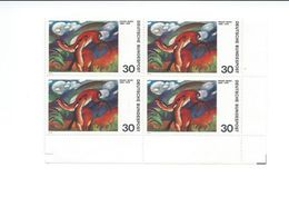 ZAlln47x4 - Allemagne RFA 1974 - YT N° 647 - 4 Timbres Neufs** Se Tenant - ARTS Peinture : Franz MARC - Arte