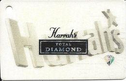 Harrahs Casino Small Total Diamond Slot Card Key Ring Dangle @2002 - Casino Cards
