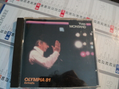 CD 24 TITRES YVES MONTAND. OLYMPIA 1981. EXTRAITS JE VAIS A PIED - Musique & Instruments
