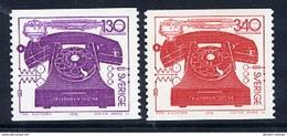 SWEDEN 1976 Telephone Centenary MNH / **.  Michel 939-40 - Sweden