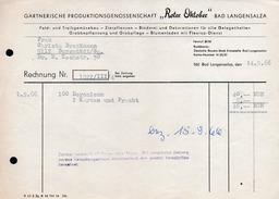 A6304 - Alte Rechnung Werbung - Bad Langensalza - Roter Oktober - 1966 - Deutschland
