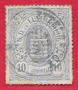 Luxembourg N°17 10c Violet-gris 1865-73 O - 1859-1880 Coat Of Arms