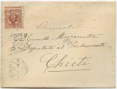 1904 FLOREALE C. 2 VARIETÀ DENTELLATURA SPOSTATA BUSTA 10.11.04 OTTIMA QUALITÀ (Z56) - Storia Postale