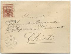 1904 FLOREALE C. 2 VARIETÀ DENTELLATURA SPOSTATA BUSTA 10.11.04 OTTIMA QUALITÀ (Z56) - 1900-44 Vittorio Emanuele III