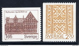 SWEDEN 1982 Historical Museum MNH / **.  Michel 1193-94 - Unused Stamps