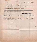 A6309 - Alte Rechnung - Gera - 1870 - Allemagne