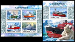 SIERRA LEONE 2017 - Icebreakers. M/S + S/S Official Issue. - Ships