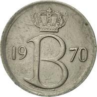 Belgique, 25 Centimes, 1970, Brussels, TTB+, Copper-nickel, KM:153.1 - 02. 25 Centimes