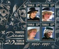 Tuvalu 2017Princess Diana 20 Years In Remembrance-I70166 - Célébrités