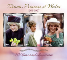 Saint Kitts 2017 Princess Diana 20 Years In Remembrance -I70157 - Famous People