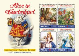 Palau 2017-annimation Alice In Wonderland,JOHN TENNIEL 100TH Anniversary -I70139 - Célébrités