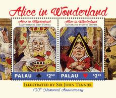 Palau 2017-annimation Alice In Wonderland,JOHN TENNIEL 100TH Anniversary -I70138 - Celebrità
