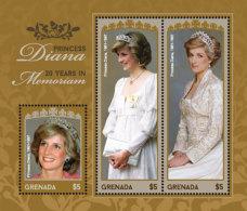 Grenada 2017-famous People Princess Diana 20 Years In Remembrance-I70122 - Celebrità