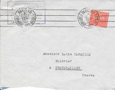 SEINE 75 - PARIS 39 R. GRANGE AUX BELLES -  FLAMME N° BO 13 901 K-  4 LD INEGALES BD 4 LIGNES  - 1930 - - Storia Postale
