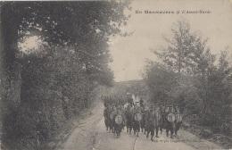 Militaria - En Manoeuvres - Avant-Garde - Fanfare Militaire - Publicité Maison Ganuchaud Nantes - Manoeuvres