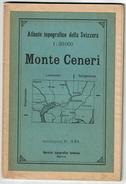 1930 - Topographischer Atlas Der Schweiz - MONTE CENERI  - 1:50 000 - 3 Scans - Topographische Karten