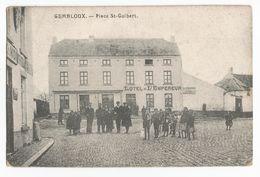 Gembloux Place St Guibert Carte Postale Ancienne Animée Hôtel De L'Empereur - Gembloux