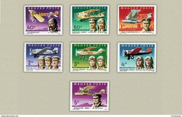 Hungary 1978. Aviation Set MNH (**) Michel: 3275-3281 / 4.50 EUR - Unused Stamps