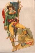 Joli Chromo Découpis Maillard Révolution Française 1792 13 Cm Hauteur - Gesneden Chromo's
