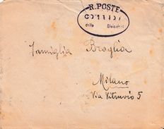 CO57 - LIBIA  - Busta Senza Testo Dalla LIBIA A Milano Del 21 Aprile 1912 In Franchigia .  Leggi... - Libia