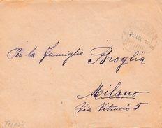 CO58 - LIBIA  - Busta Senza Testo Da Tripoli ? A Milano Del 22 Luglio 1912 In Franchigia .  Leggi... - Libia