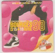 Sous Bock De Biere Commémoratif Printemps De Bourges; Brasserie Kronenbourg 1998 - Sous-bocks