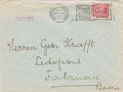 25337. Carta BRUXELLES (Belgien) 1921. Imprimées - Bélgica