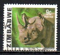 ZIMBABWE. N°6 Oblitéré De 1980. Rhinocéros. - Rhinozerosse