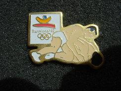 PIN´S  JEUX OLYMPIQUES BARCELONA 92 LUTTE - Jeux Olympiques