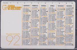 Calendario Plastificato 1992 - Calendari