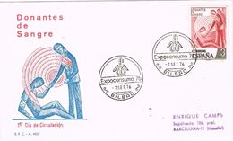 25350. Carta Exposicion BILBAO 1976.  Expoconsumo. Donantes De Sangre - 1931-Hoy: 2ª República - ... Juan Carlos I