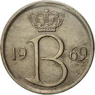 Belgique, 25 Centimes, 1969, Brussels, TTB+, Copper-nickel, KM:154.1 - 02. 25 Centimes
