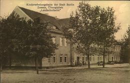 """Ca. 1915, ZOSSEN, Kindererholungsheim """"Landschulheim"""", Übungsplatz, Ungebraucht - Alemania"""
