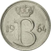 Belgique, 25 Centimes, 1964, Brussels, TTB+, Copper-nickel, KM:153.1 - 02. 25 Centimes