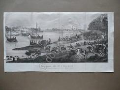 Incisione In Rame Passaggio Po A Piacenza 1796 Storia Di Napoleone Norvins 1833 - Vecchi Documenti