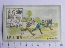 (71) Saône Et Loire - LE LION - Lait - Laiterie De Corneux Maurice Grillot Près Gray - Rhébus - L'argent Est Mal Placé . - Chromos