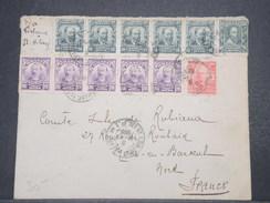 BRÉSIL - Enveloppe Pour La France En 1909 , Affranchissement Varié Et Plaisant.. - L 9734 - Cartas