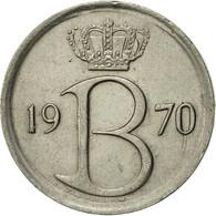 Belgique, 25 Centimes, 1970, Brussels, TTB+, Copper-nickel, KM:154.1 - 02. 25 Centimes