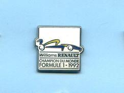 Pins Auto Voiture Formule 1 F1 Renault Champion Du Monde 1992 G378 - Automobile - F1